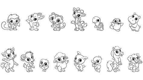 baby animal coloring pages free baby animal coloring pages printables leapfrog