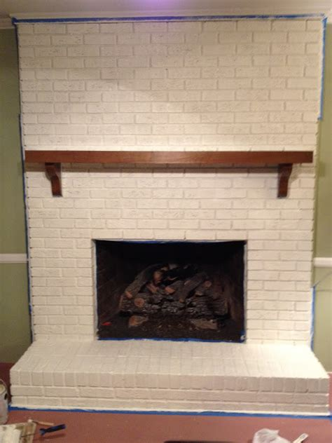Painting Brick Fireplace White by Goodbye House Hello Home Decor Coaxing Paint