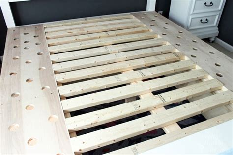 Build Your Own King Size Bed Frame Farmhouse King Size Bed With Storage Pretty Handy