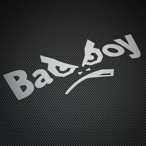 boys bad design skull and bad boys stickers