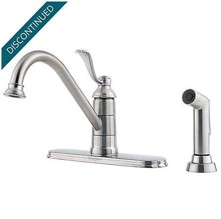price pfister gt34 4pc0 portland polished chrome one stainless steel portland 1 handle kitchen faucet gt34