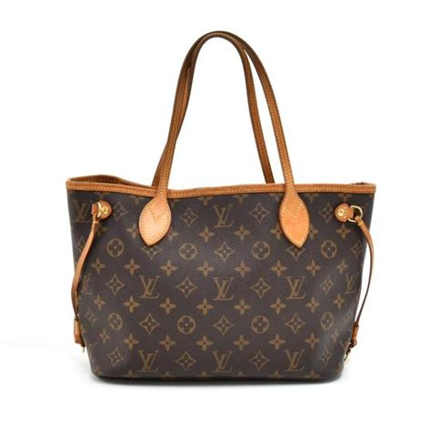 louis vuitton neverfull tote pm monogram brown canvas