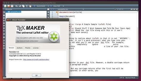 latex tutorial for ubuntu texmaker 4 3 released install it in ubuntu 14 04 12 04