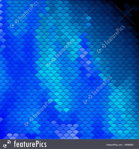 blue pattern l shade scales pattern in blue shades