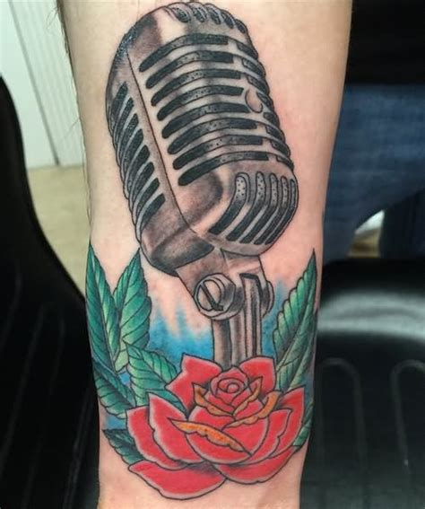 microphone tattoo arm 60 awesome microphone tattoos