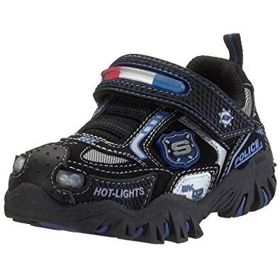 skechers light up shoes amazon amazon com skechers kids 90351n damager police hook and