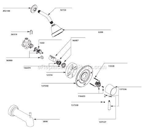 Moen Shower Replacement Parts by Moen T2702 Parts List And Diagram Ereplacementparts