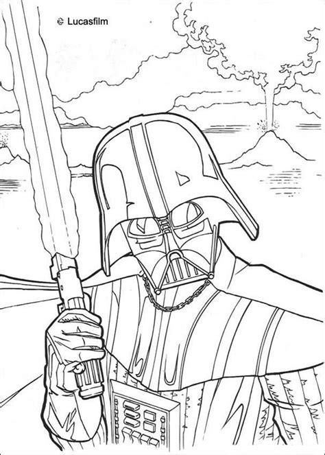 fighting darth vader coloring pages hellokids com