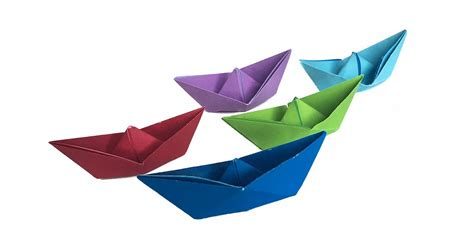 San Boat Origami - traditional origami boat with origami