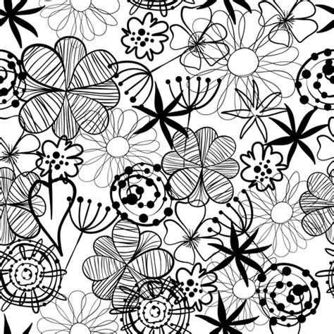 flower pattern doodle doodle flowers hand drawing vector pattern 05 vector