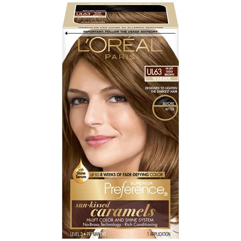 box hair dye colors l oreal ul63 warmer hi lift gold brown hair color box