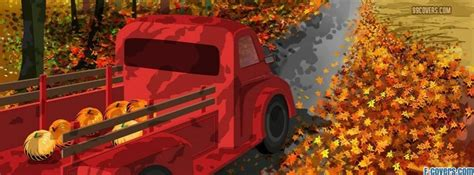 thanksgiving fall truck facebook cover timeline photo banner  fb