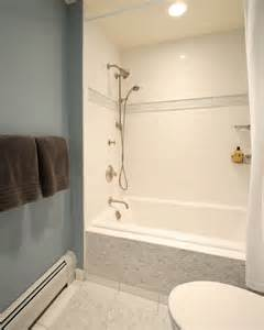 Design Concept For Bathtub Surround Ideas The Tile Outside The Tub And The Stripe Around The Shower Bathroom Inspiration