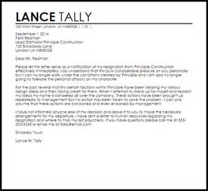 Emotional Resignation Letter by Angry Resignation Letter Resignation Letters Livecareer
