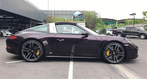 Amethyst Metallic Porsche 991 2 Targa 4s Is Dressed To Impress
