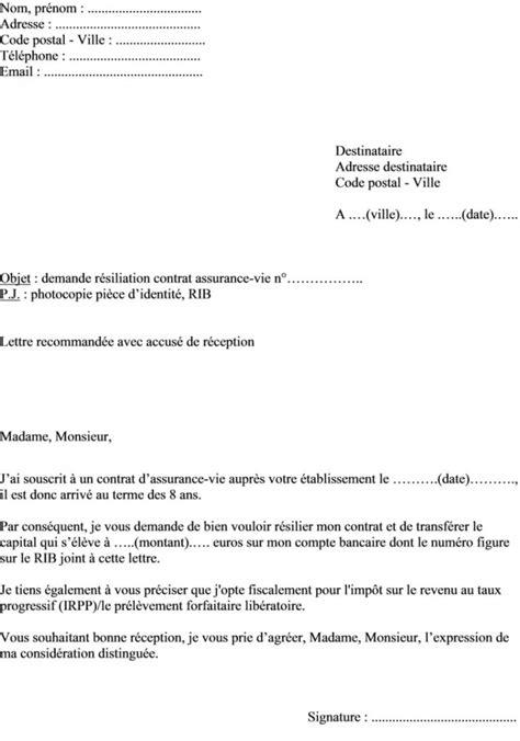 Modele Resiliation N Assurance Document Modele Lettre Resiliation A Titre Conservatoire Document