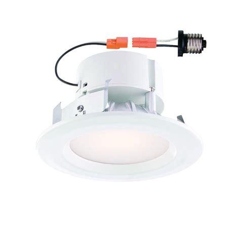 home depot led recessed lighting envirolite standard retrofit 4 in white recessed trim