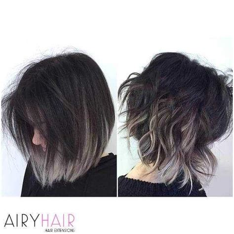 Hairstyles For Black With Gray Hair by 20 Best Black And Grey Ombr 233 Hair Color Ideas