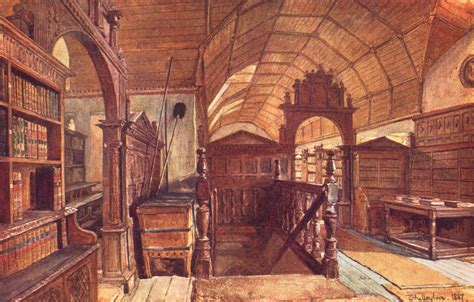 Oxford Interiors by Oxford Interior Of The Library Of Merton College 1903