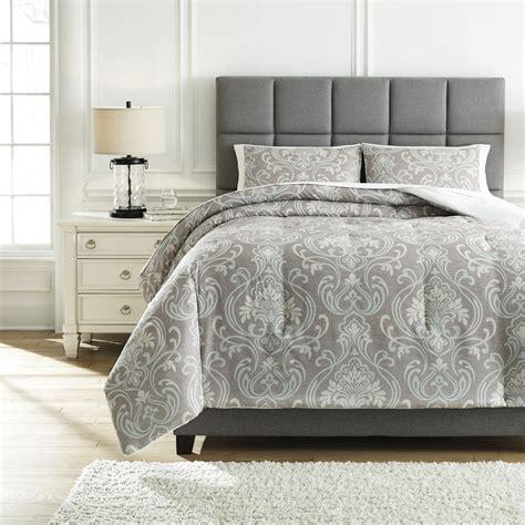 signature design  ashley bedding sets queen noel gray