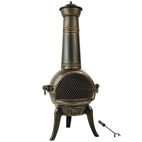 chiminea parts large cast iron chiminea fireplace garden patio heater