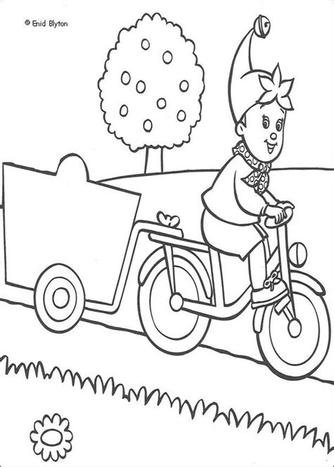 noddy coloring pages games noddy on a bike ride coloring pages hellokids com