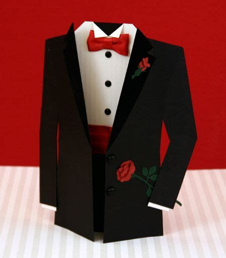 Tuxedo Card Template by Tuxedo Card 50th Birthday Formal Suits