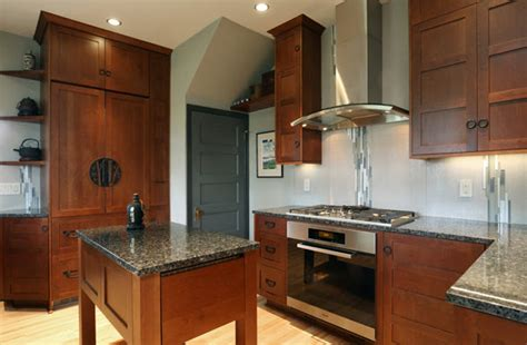 Japanese Kitchen by A Japanese Tansu Style Kitchen Spectrum Homes Portland