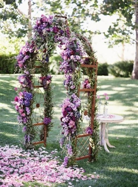 Wedding Arch Purple by Purple Wedding Archway With Flowers 2062066 Weddbook