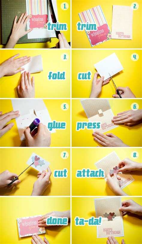 How To Make A Card Out Of Paper - how to make a pop up card scrapgirls