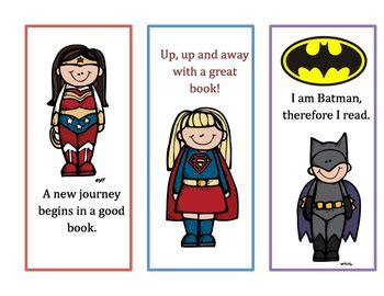 printable bookmarks superheroes super hero bookmarks by wkreider teachers pay teachers