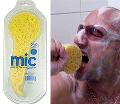 Mic Sing In The Shower Sponge mic sing in the shower sponge neat shtuff neat shtuff
