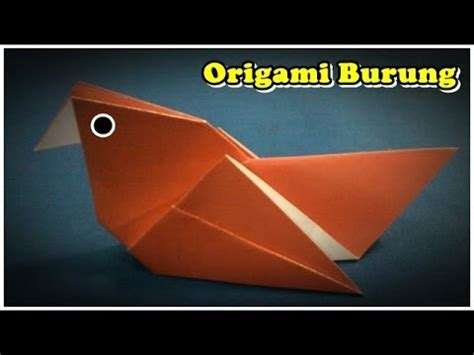 youtube tutorial origami burung origami burung cara membuat origami burung youtube