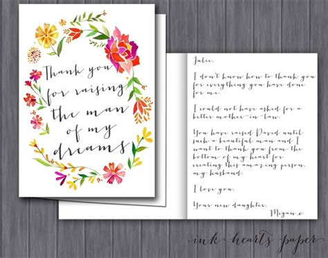 thank you letter to s parents from groom letter gift from to of the groom in