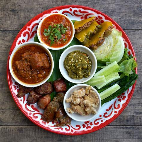thai dishes file lanna cuisine starters jpg wikimedia commons