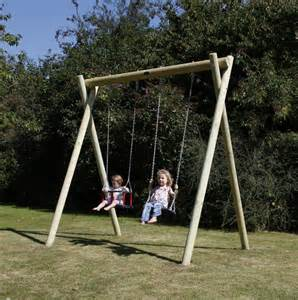 Swing With Wooden Garden Swing Installations Activetoyco