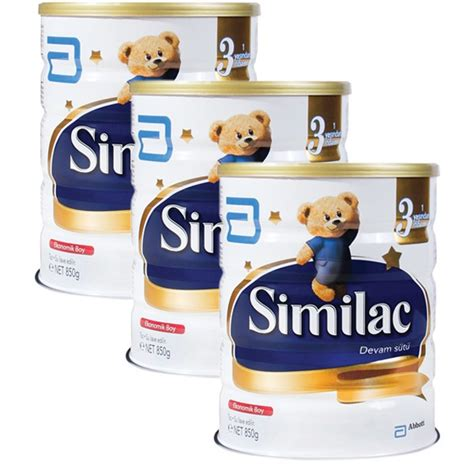 Similac Gain Plus 3 850 Gr similac 3 devam s 252 t 252 850 gr x 3 adet fiyat箟 happy tr