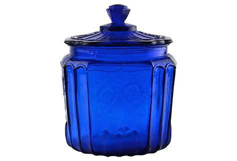 cobalt blue kitchen canisters cobalt glass canister on onekingslane com for the home pinterest cobalt glass products