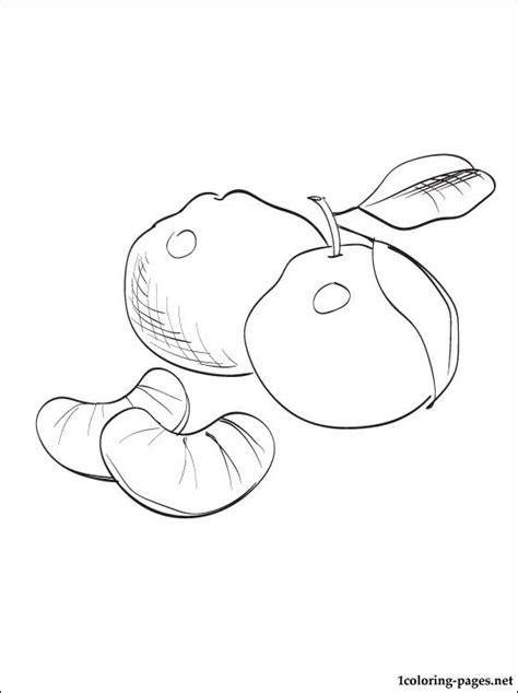 Mandarin Black And White mandarin coloring and printable page coloring pages