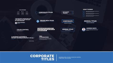 14 modern corporate titles after effects templates