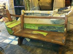 Boat Bench Ship Salvage Nautical Antique Warehouse