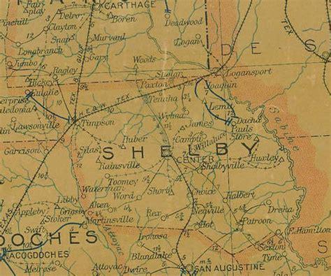 shelby county texas map shelby county texas