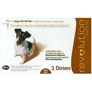 revolution for dogs 11 20 lbs revolution for dogs 10 20 lbs 3 pack brown vetdepot
