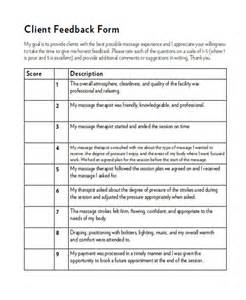 personal feedback form template sle client feedback form in word 8 exles in word