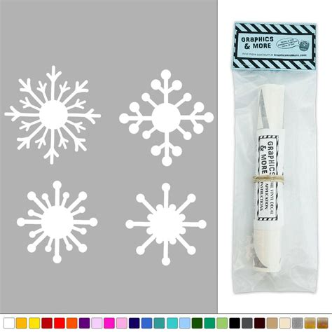 winter wall decorations four snowflakes winter decoration vinyl sticker decal wall