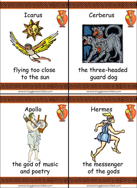 mythology trading card template mythology flashcards