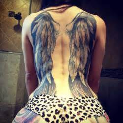 37 good and evil angel wings tattoos