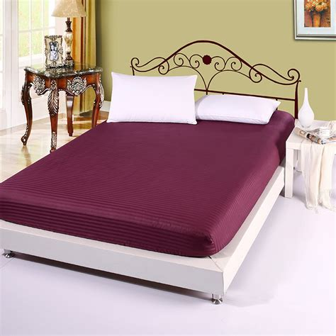 queen bed sheet hotel motel purple bedsheet 100 nature cotton fitted bed