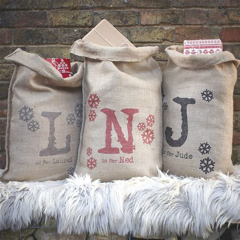 personalised christmas sack by catherine colebrook