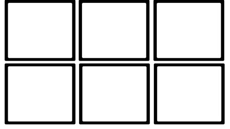 6 box storyboard template